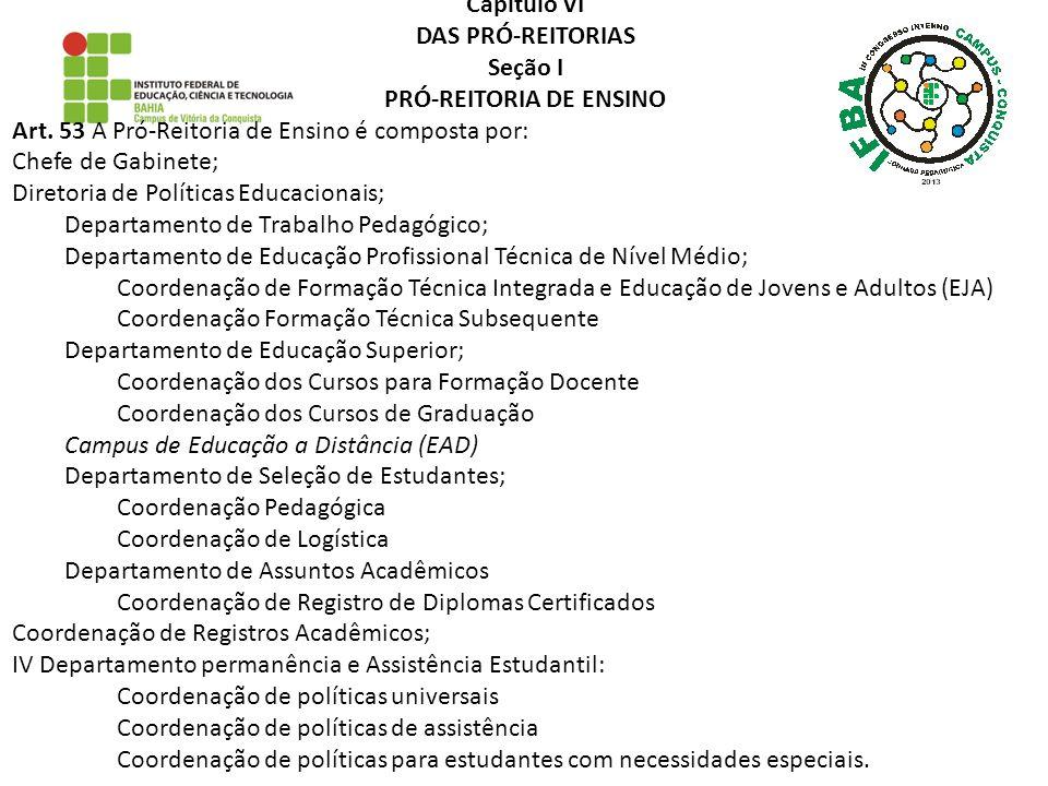 PRÓ-REITORIA DE ENSINO