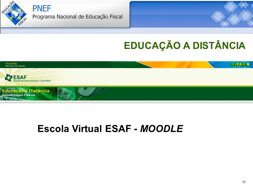 Escola Virtual ESAF - MOODLE