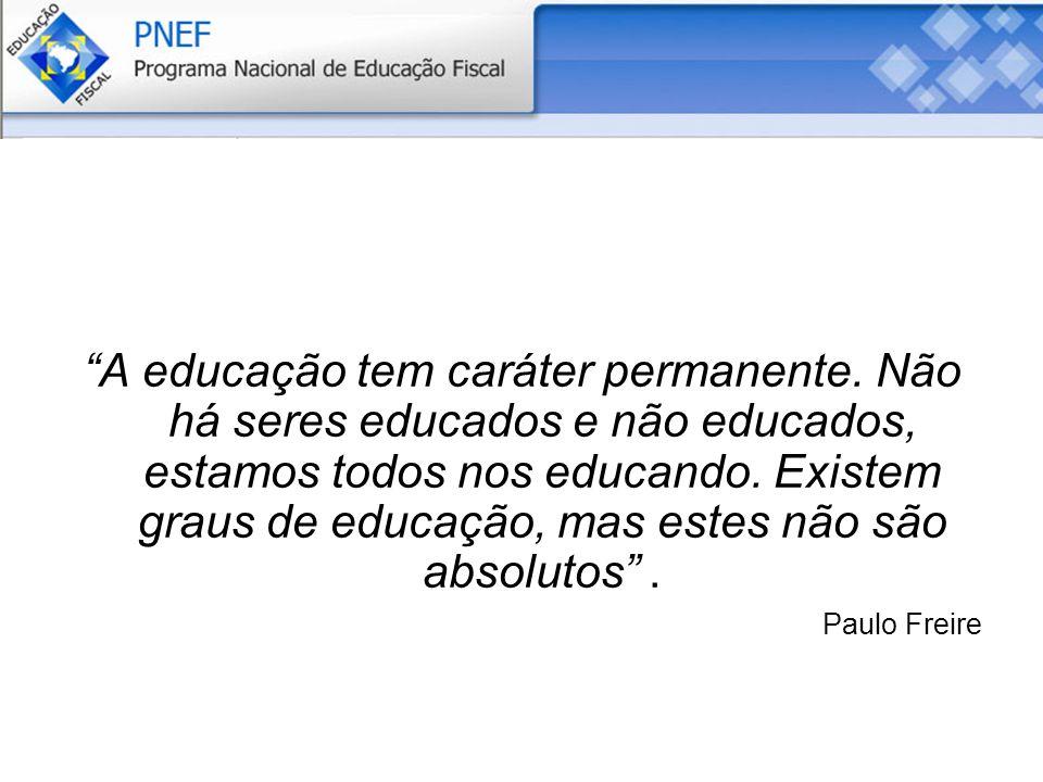 A educação tem caráter permanente