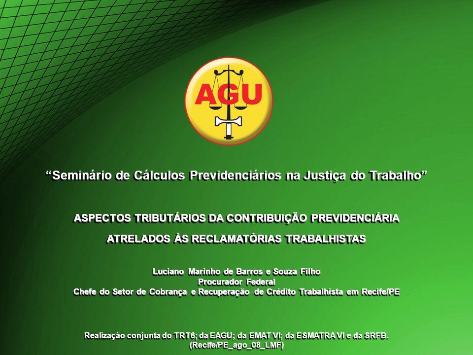 Seminário de Cálculos Previdenciários na Justiça do Trabalho