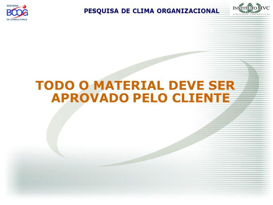 TODO O MATERIAL DEVE SER APROVADO PELO CLIENTE