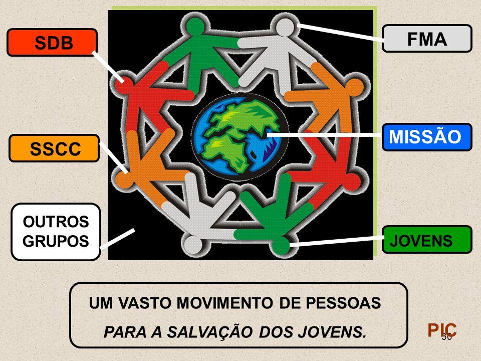 UM VASTO MOVIMENTO DE PESSOAS PARA A SALVAÇÃO DOS JOVENS.