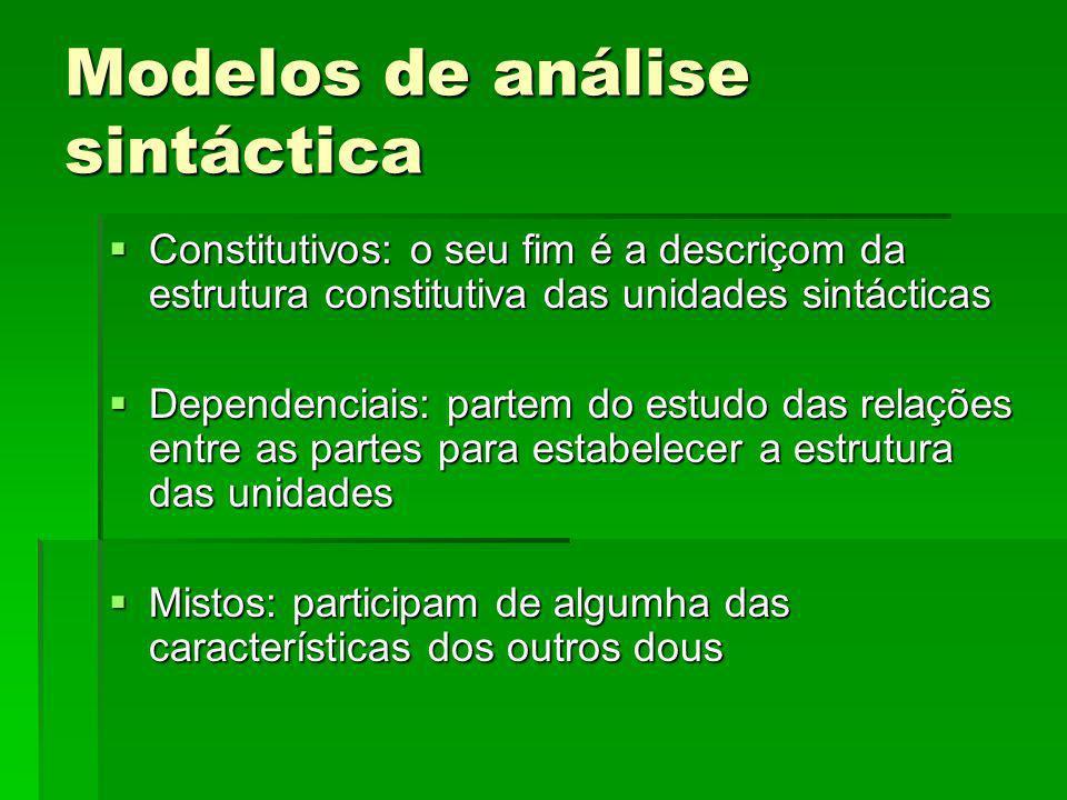 Modelos de análise sintáctica