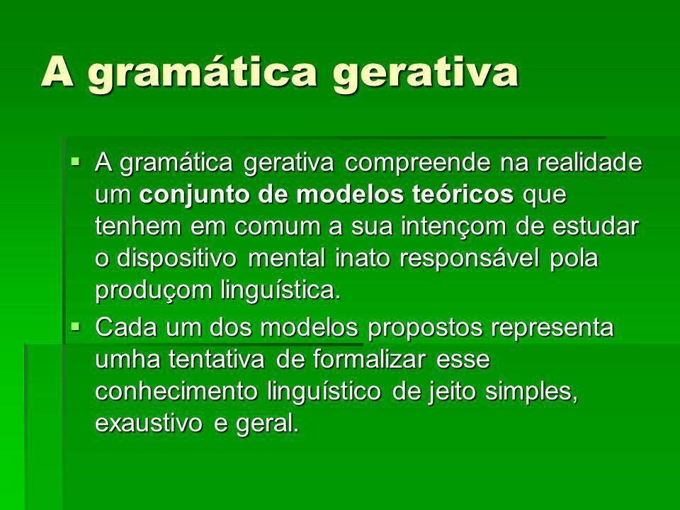 A gramática gerativa