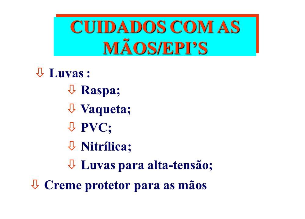 CUIDADOS COM AS MÃOS/EPI'S