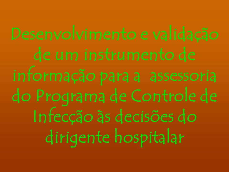 Desenvolvimento e validação de um instrumento de informação para a assessoria do Programa de Controle de Infecção às decisões do dirigente hospitalar