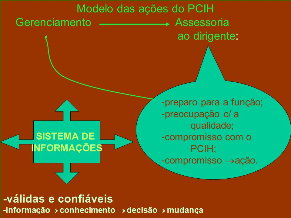 Modelo das ações do PCIH