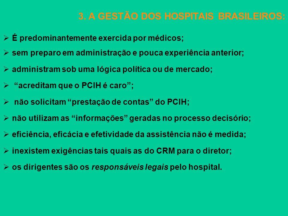 3. A GESTÃO DOS HOSPITAIS BRASILEIROS: