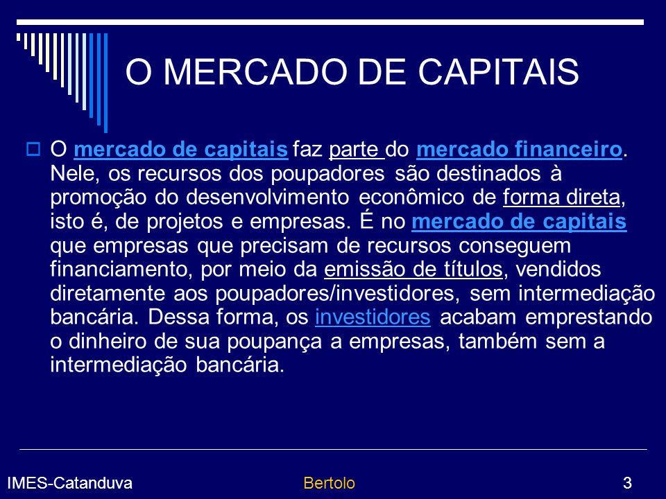 O MERCADO DE CAPITAIS