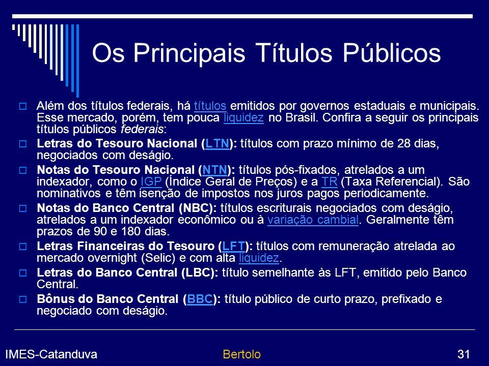 Os Principais Títulos Públicos