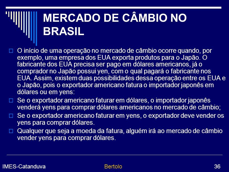 MERCADO DE CÂMBIO NO BRASIL