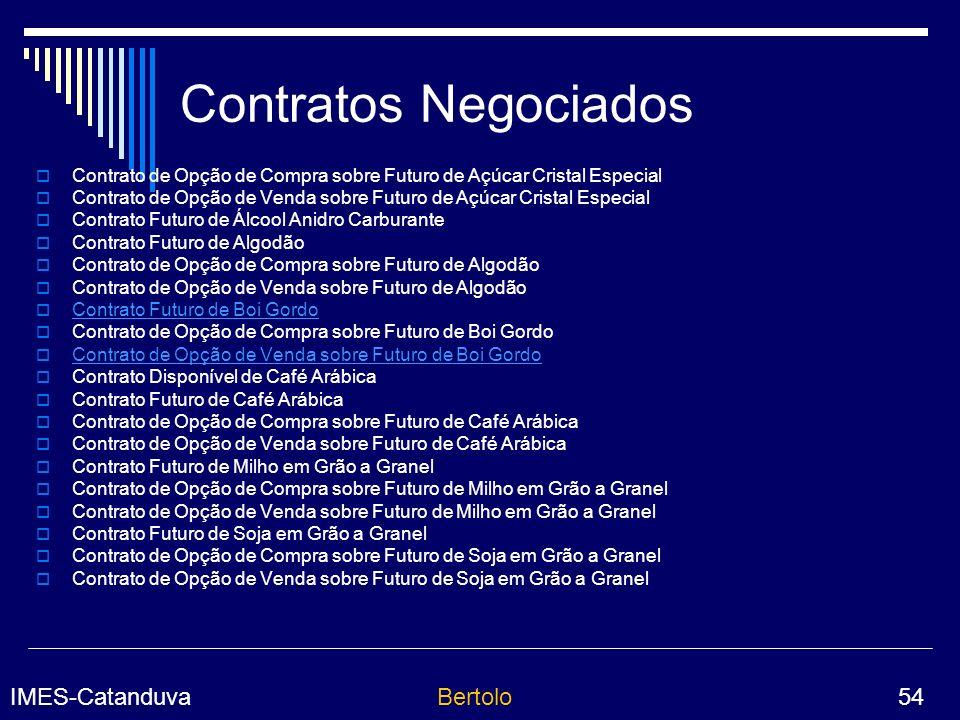 Contratos Negociados Contrato de Opção de Compra sobre Futuro de Açúcar Cristal Especial.