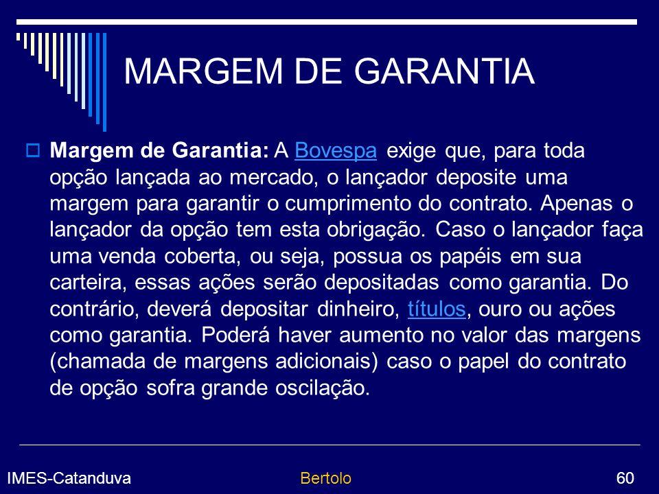 MARGEM DE GARANTIA