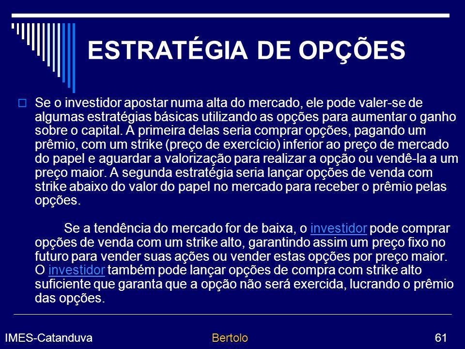 ESTRATÉGIA DE OPÇÕES