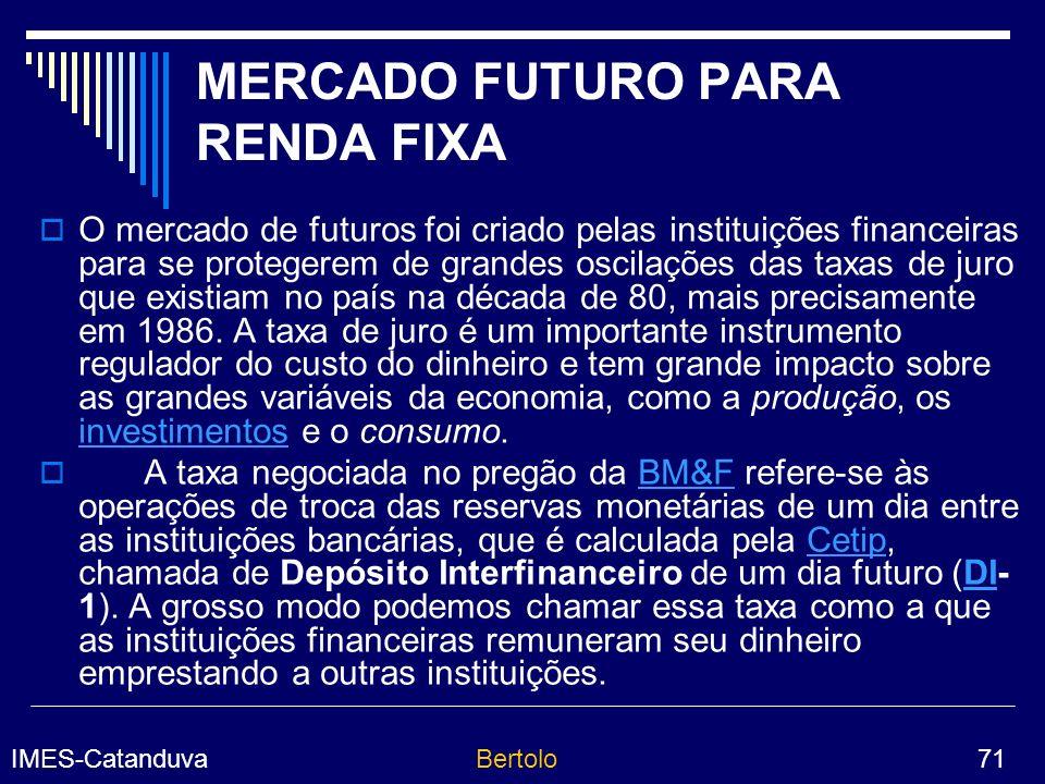MERCADO FUTURO PARA RENDA FIXA