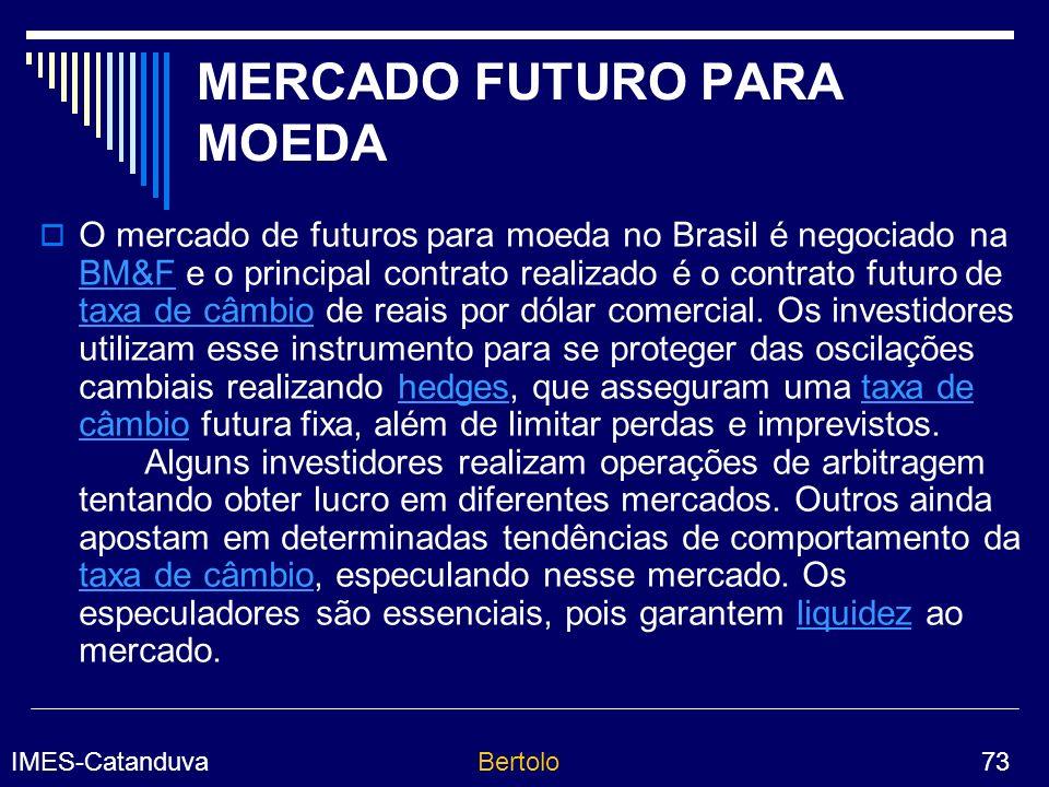 MERCADO FUTURO PARA MOEDA