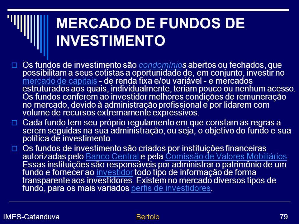 MERCADO DE FUNDOS DE INVESTIMENTO