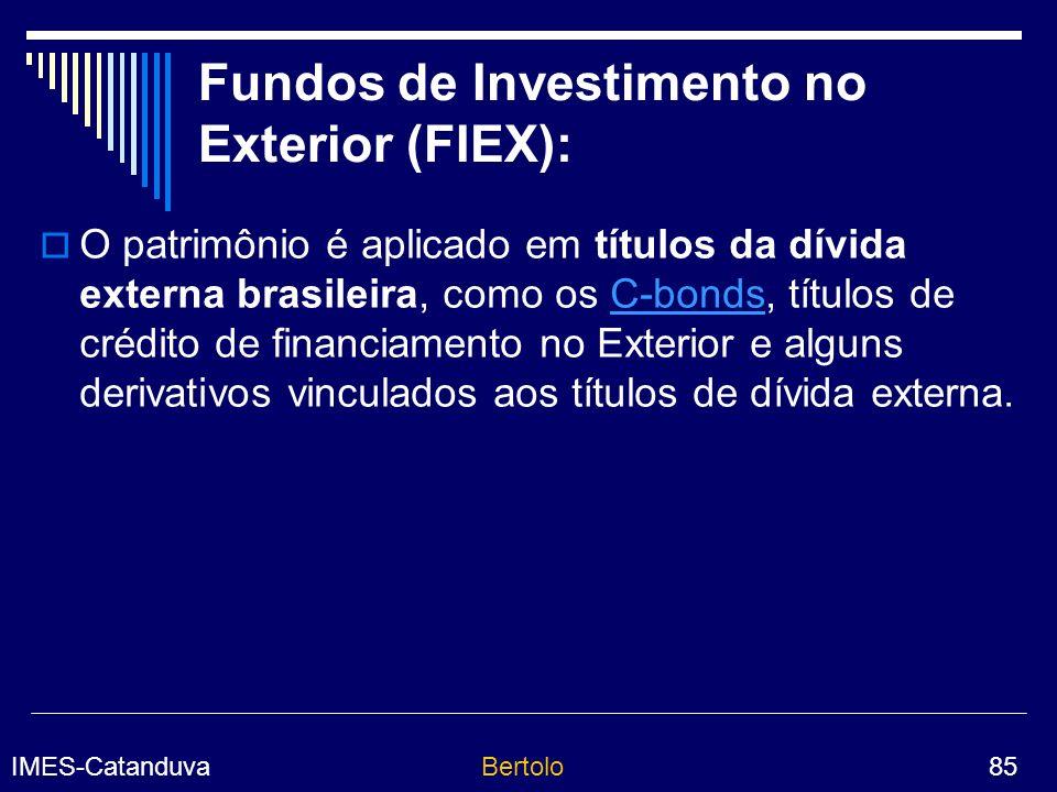 Fundos de Investimento no Exterior (FIEX):