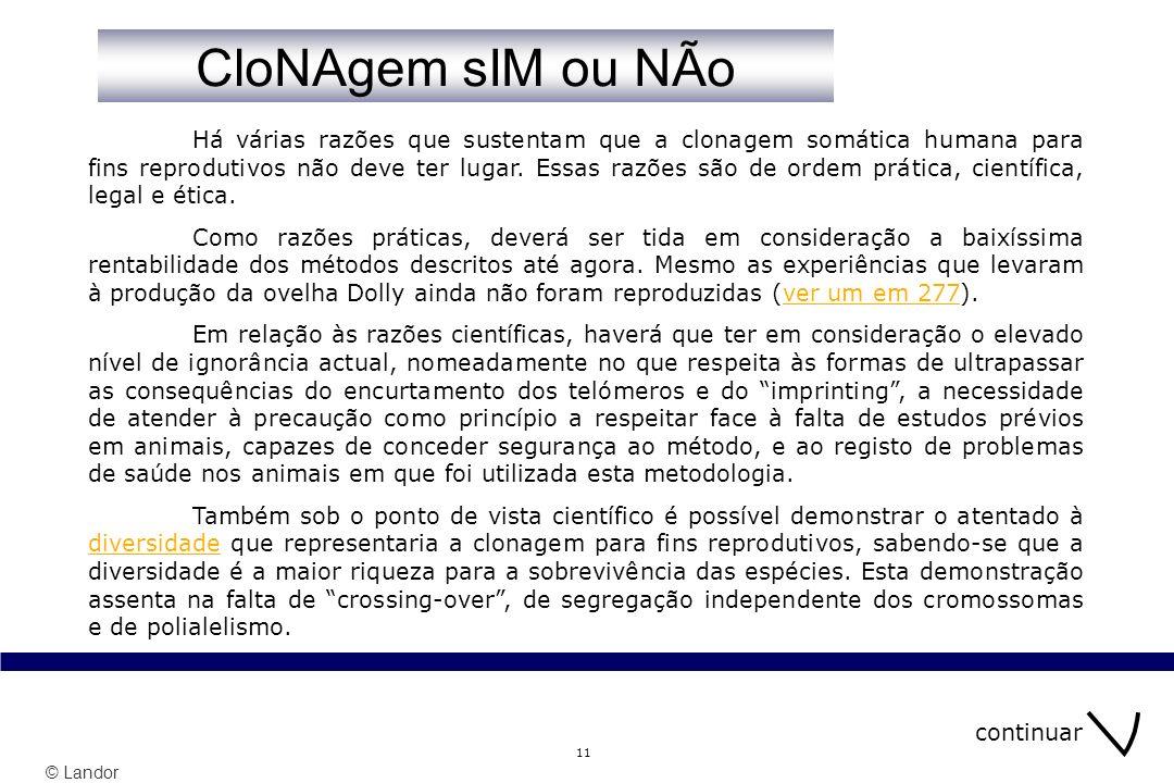 CloNAgem sIM ou NÃo