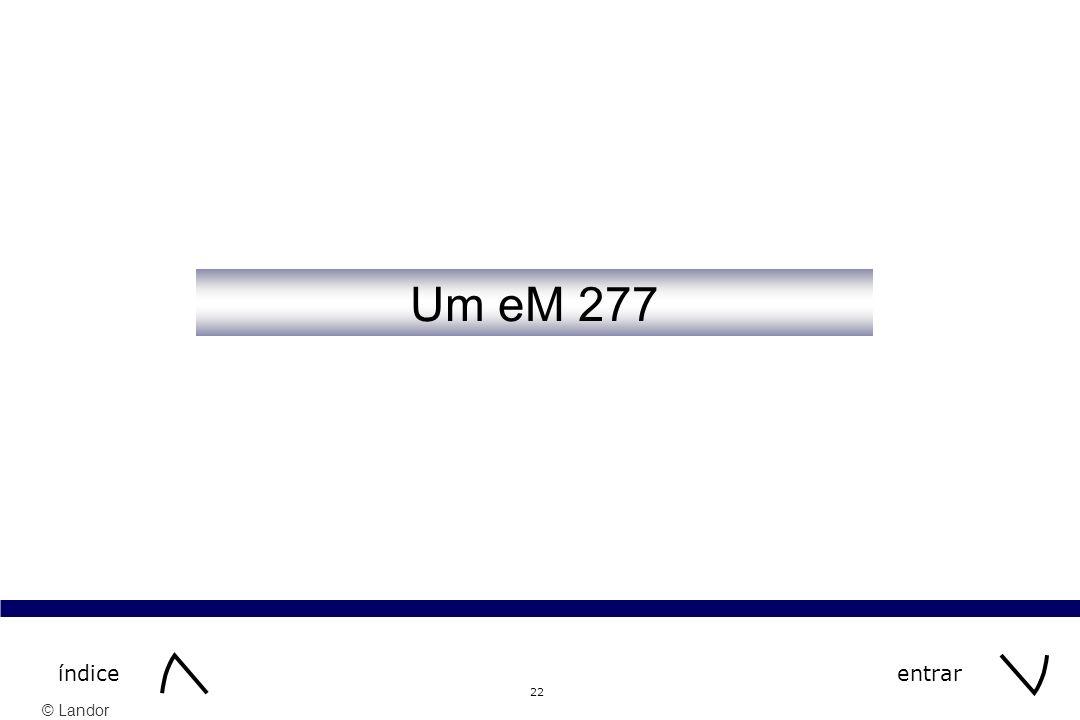 Um eM 277 índice entrar