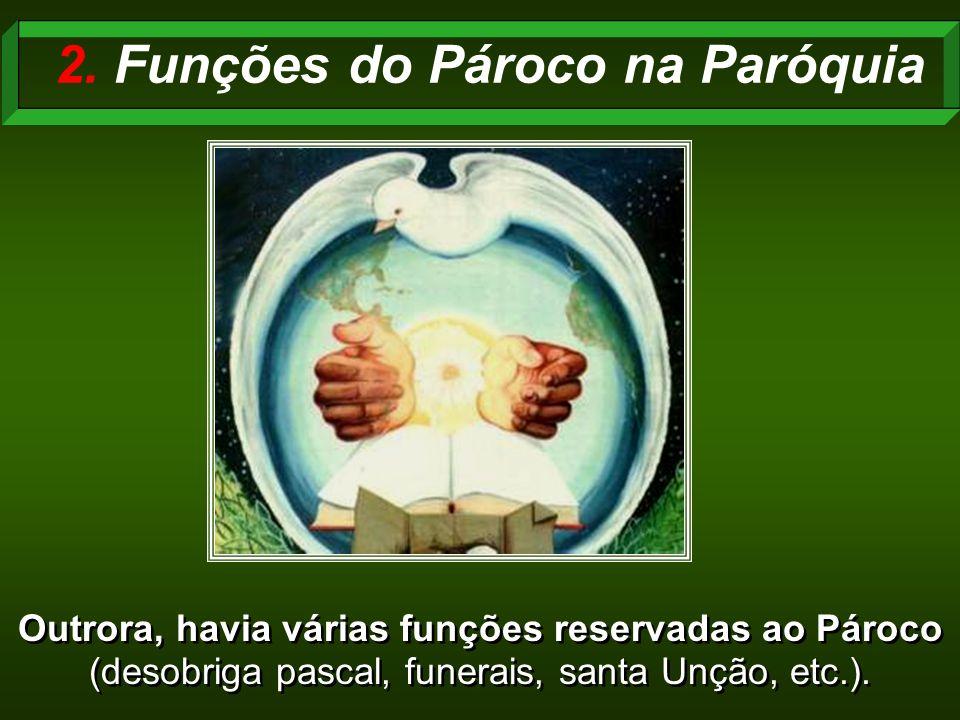 2. Funções do Pároco na Paróquia
