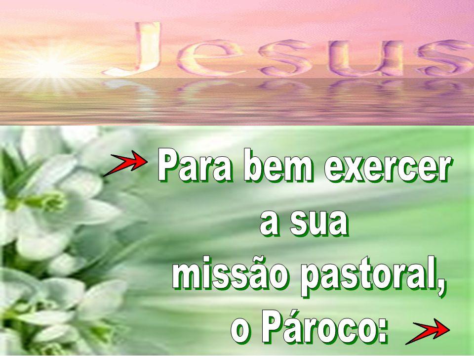 Para bem exercer a sua missão pastoral, o Pároco: