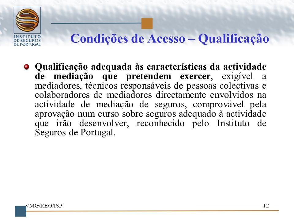 Condições de Acesso – Qualificação