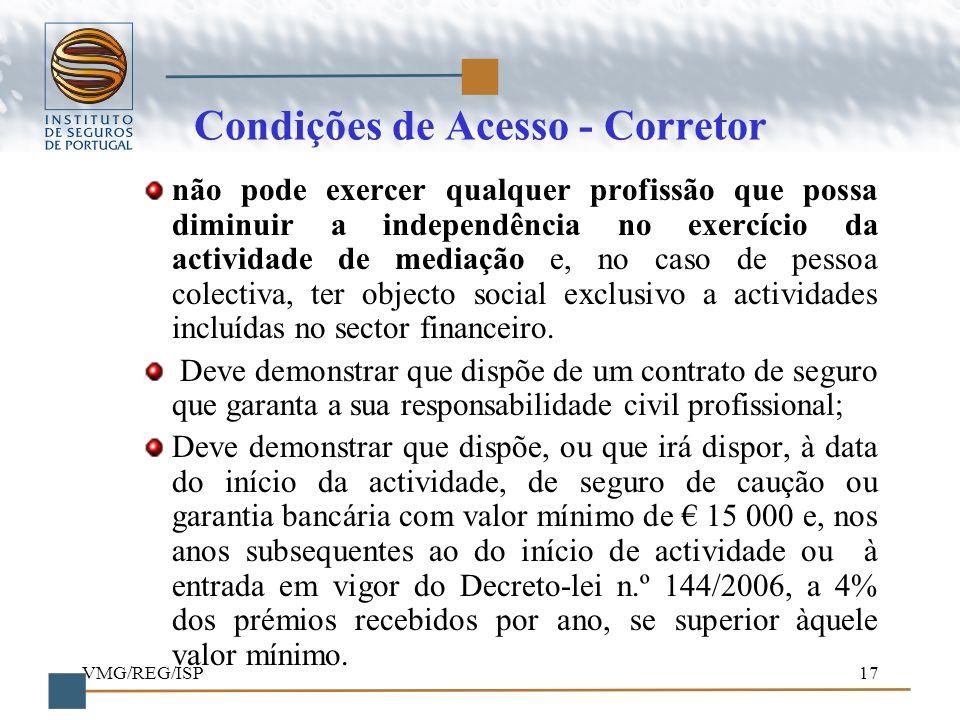 Condições de Acesso - Corretor