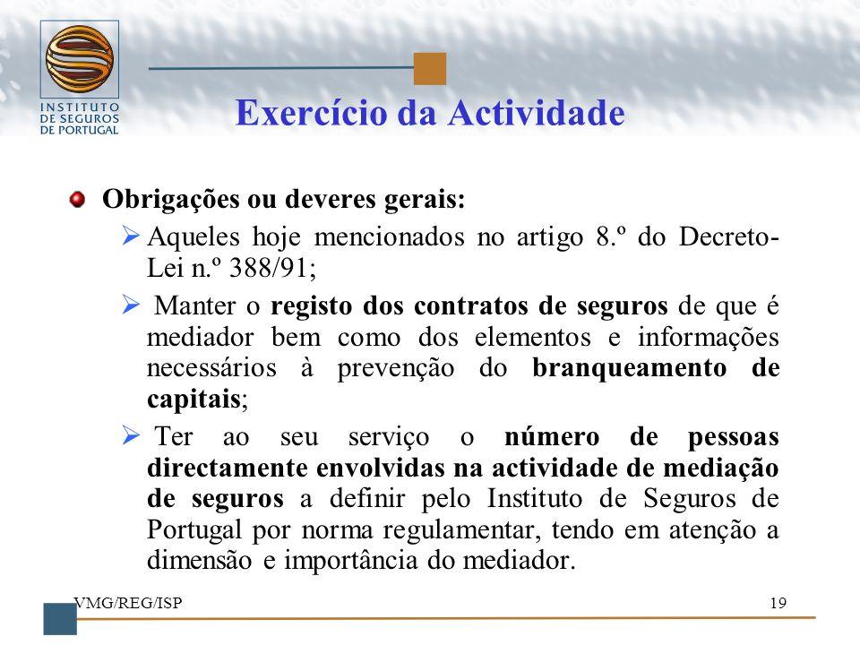 Exercício da Actividade