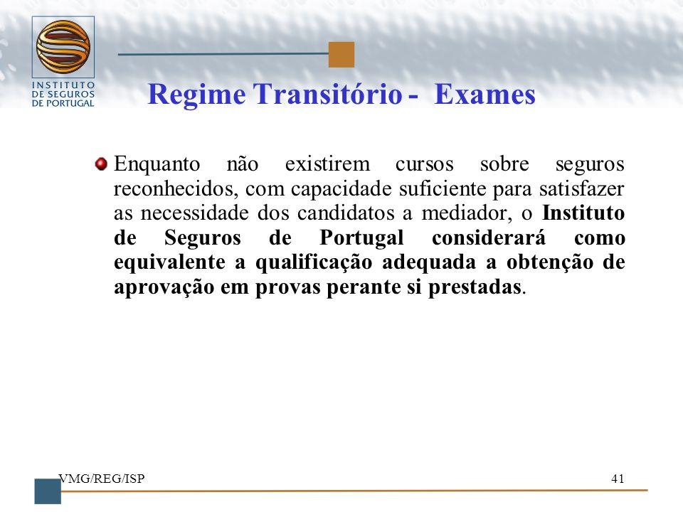 Regime Transitório - Exames