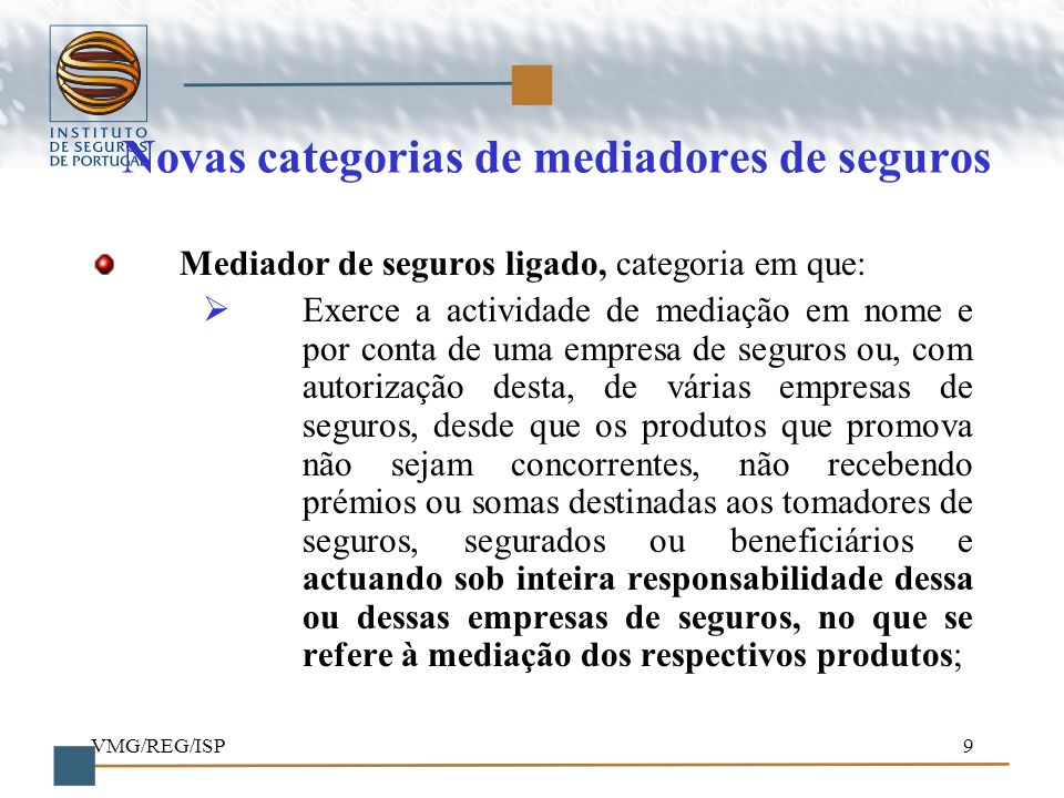 Novas categorias de mediadores de seguros