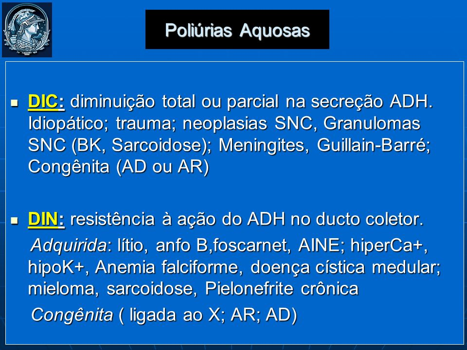 Poliúrias Aquosas