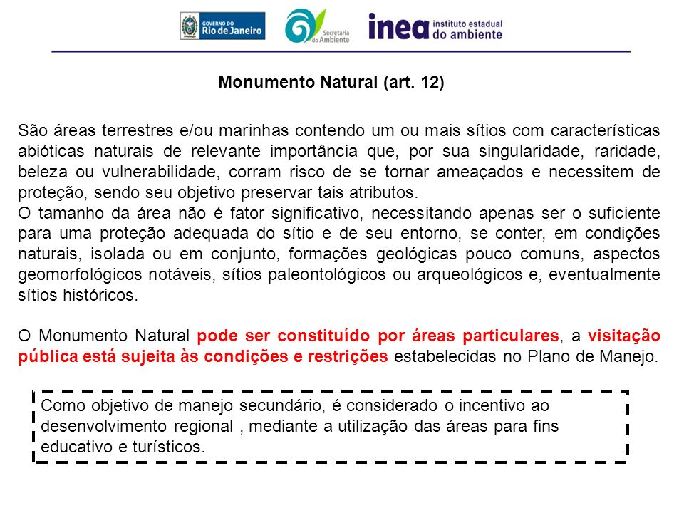 Monumento Natural (art. 12)