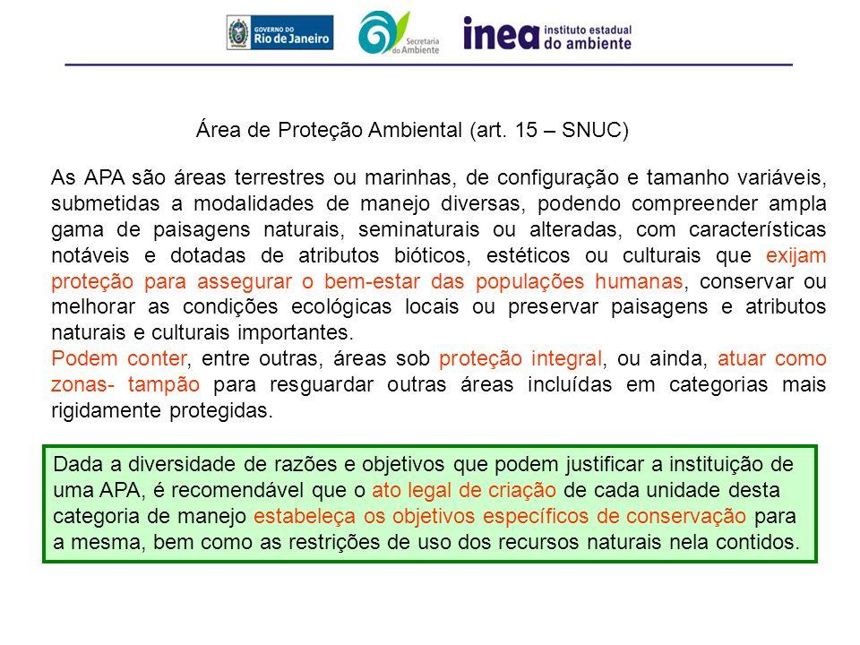 Área de Proteção Ambiental (art. 15 – SNUC)