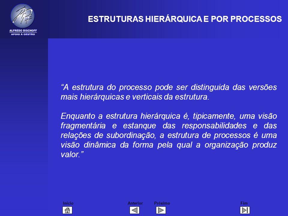 ESTRUTURAS HIERÁRQUICA E POR PROCESSOS