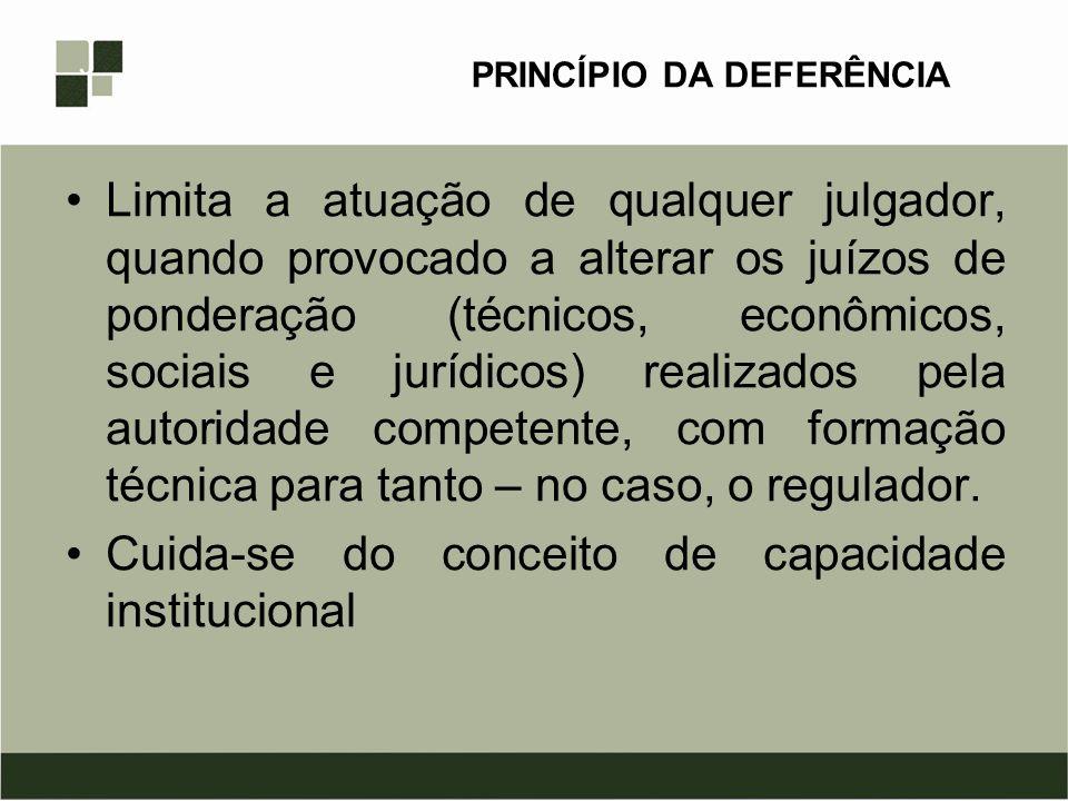 PRINCÍPIO DA DEFERÊNCIA
