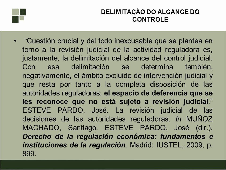 DELIMITAÇÃO DO ALCANCE DO CONTROLE