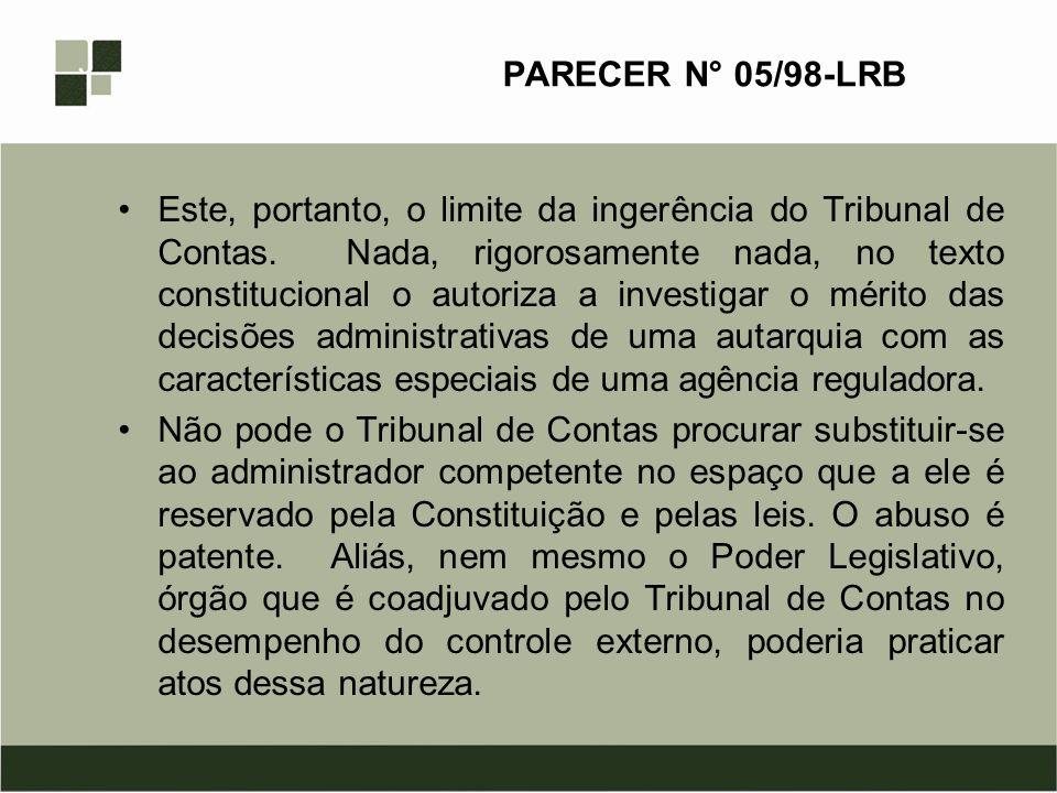 PARECER N° 05/98-LRB