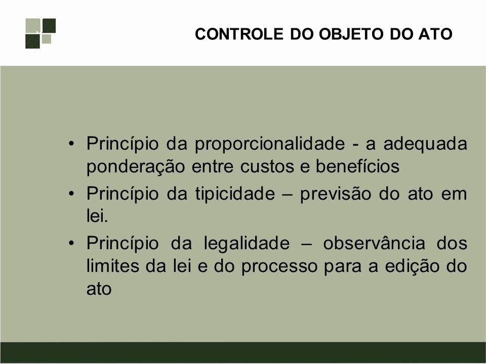 CONTROLE DO OBJETO DO ATO