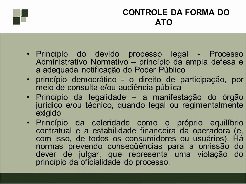 CONTROLE DA FORMA DO ATO