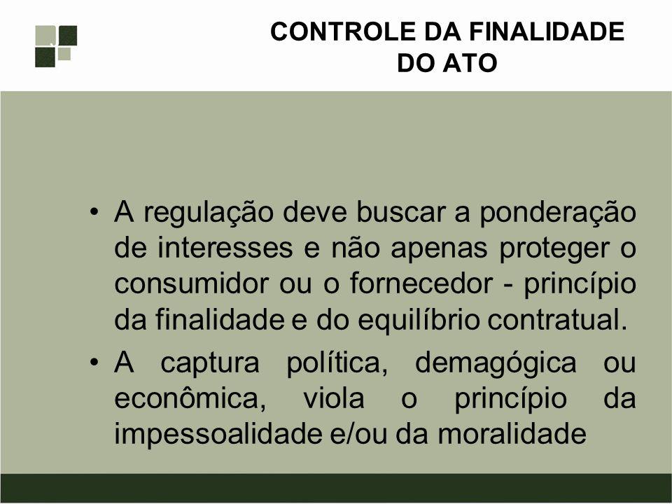 CONTROLE DA FINALIDADE DO ATO
