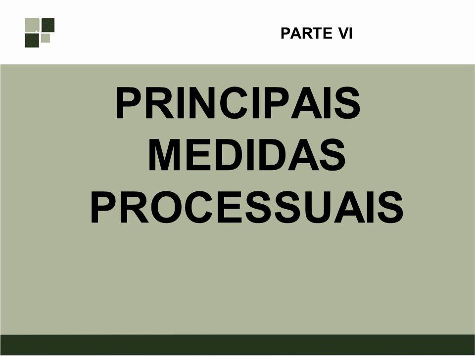 PRINCIPAIS MEDIDAS PROCESSUAIS