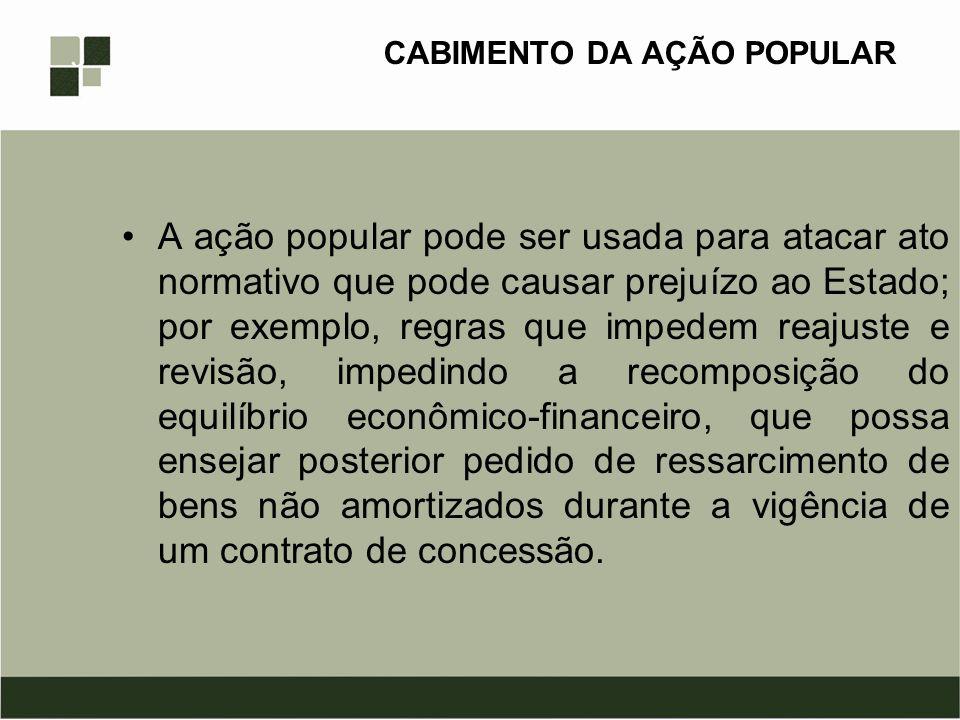 CABIMENTO DA AÇÃO POPULAR