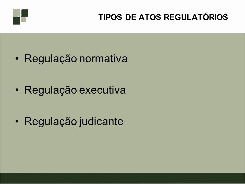 TIPOS DE ATOS REGULATÓRIOS
