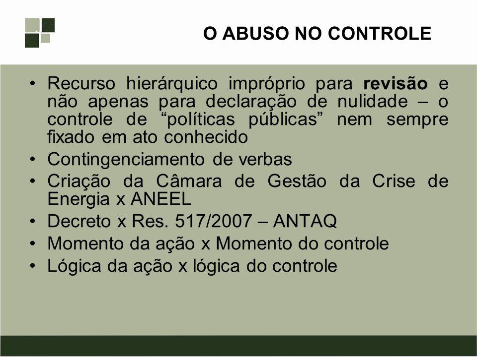 O ABUSO NO CONTROLE