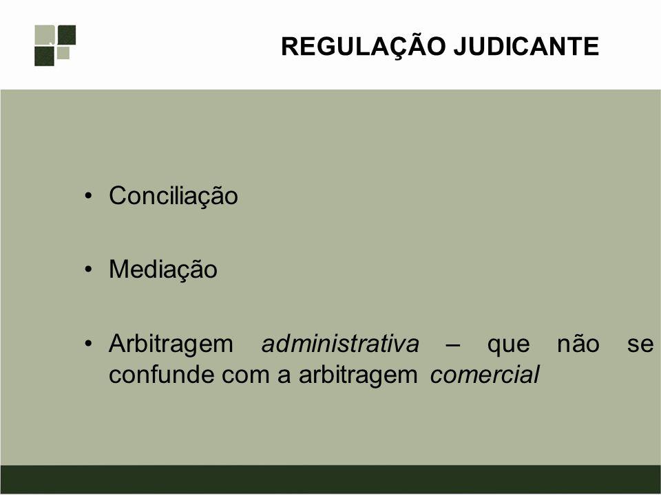 REGULAÇÃO JUDICANTE Conciliação. Mediação.