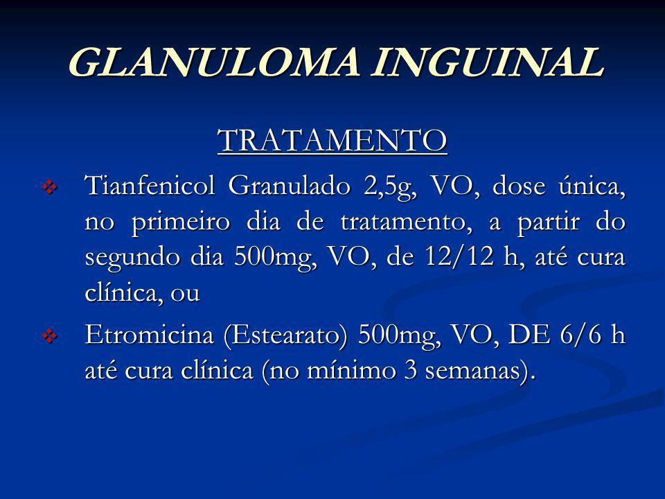 GLANULOMA INGUINAL TRATAMENTO