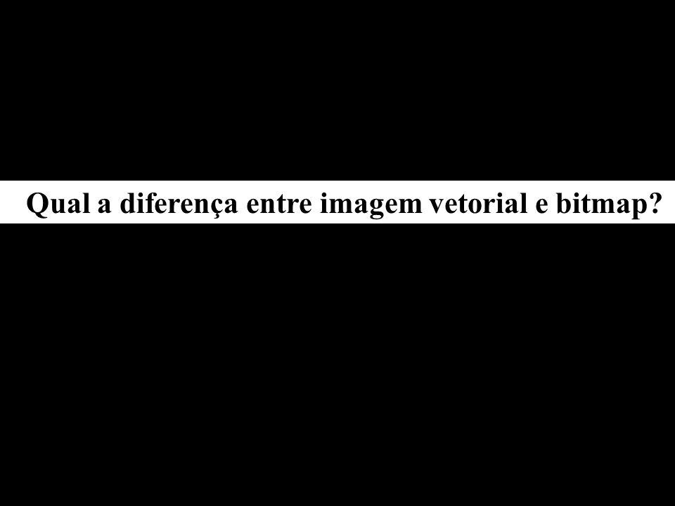 Qual a diferença entre imagem vetorial e bitmap