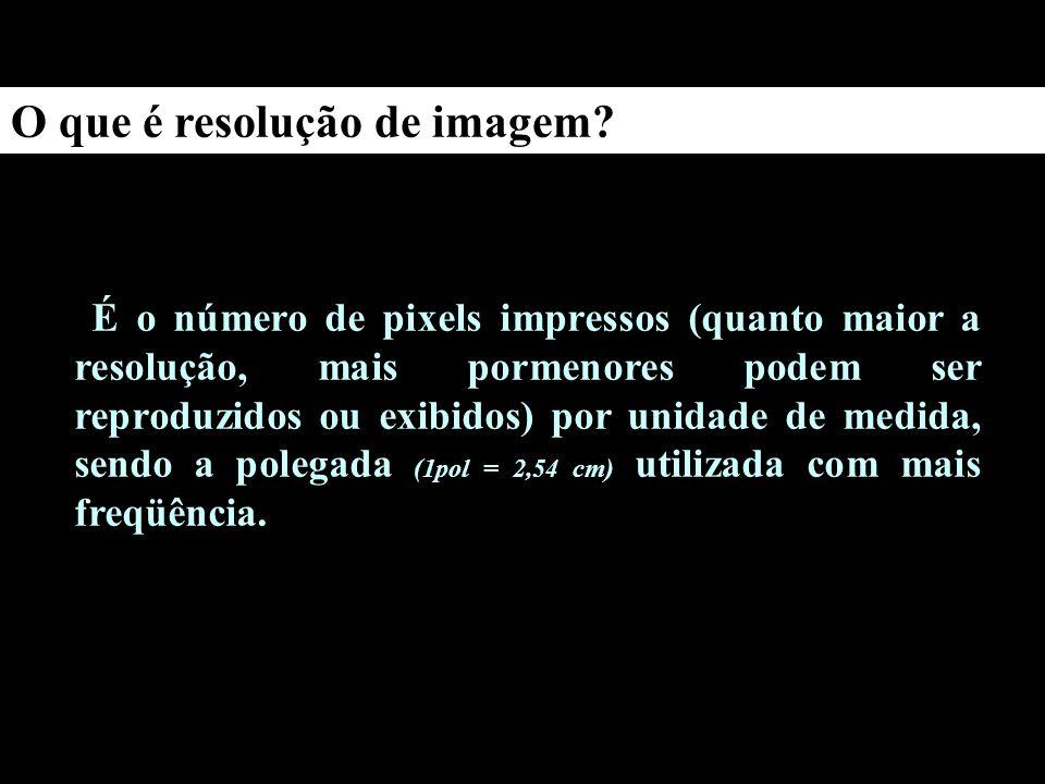 O que é resolução de imagem