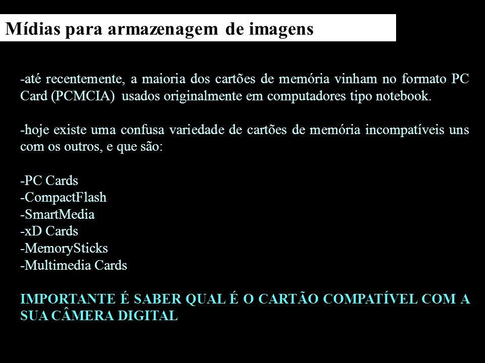 Mídias para armazenagem de imagens